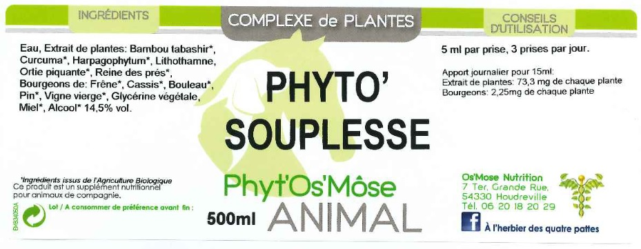 phyto soupl anim